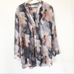 Soft Surroundings Button Down Blouse 1X